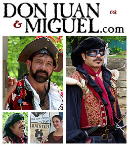 Renaissance Festival Entertainers, Don Juan and Miguel, Sword Fighting Comedy